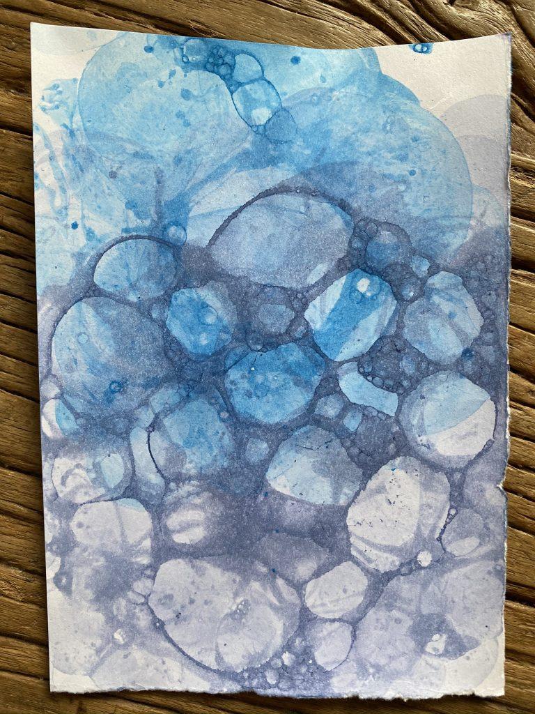 carte peinture bulle