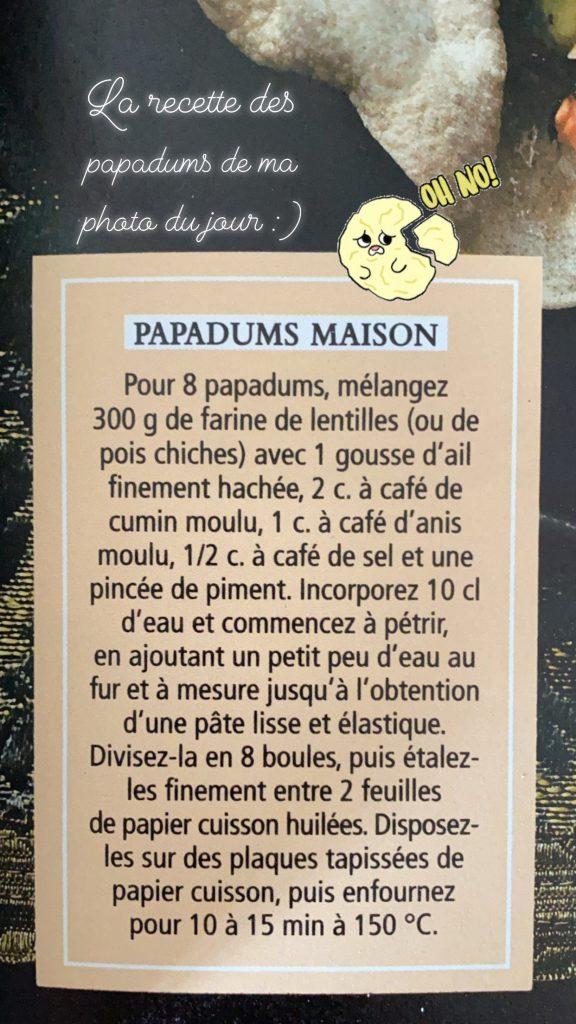 recette Papadum