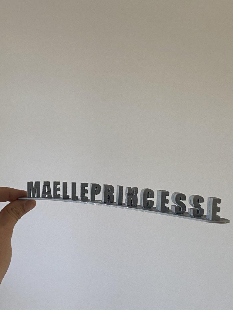 message double sens imprimante 3D