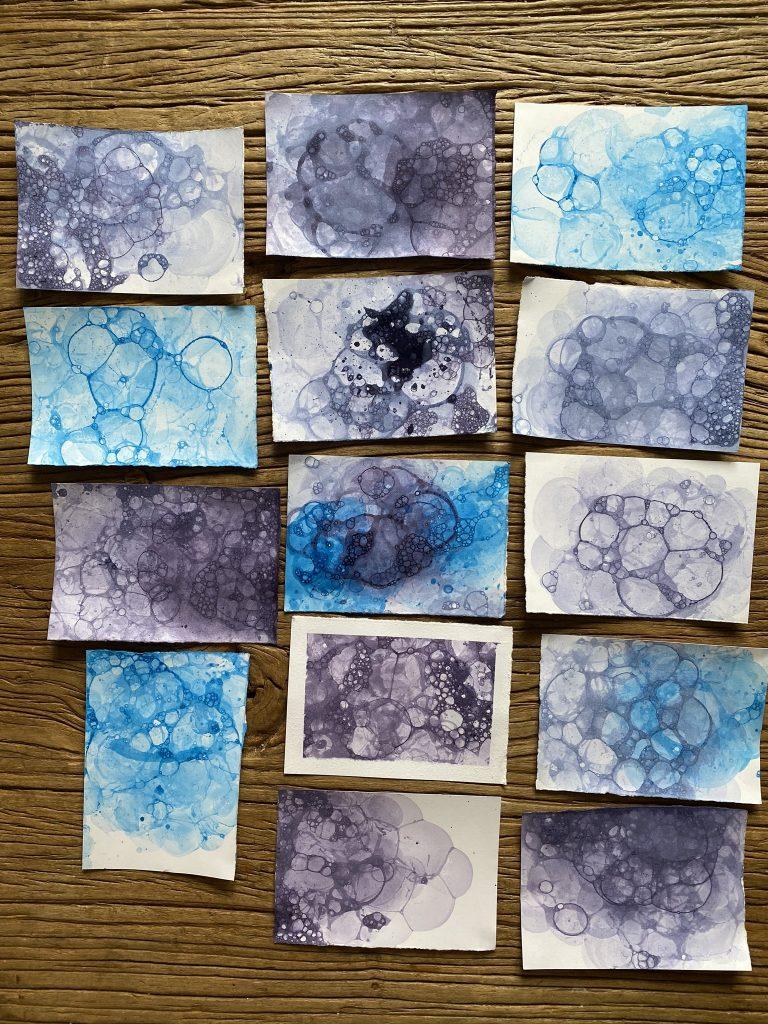 exemple de peinture aux bulles