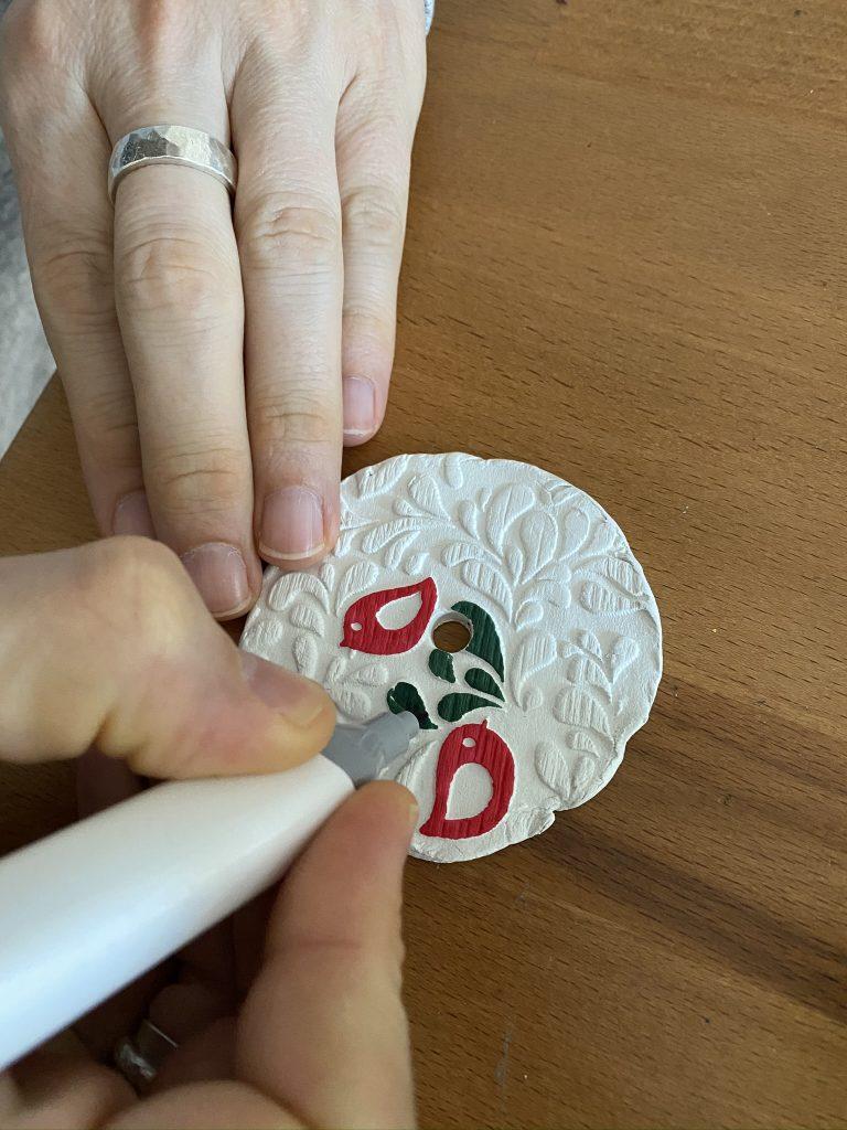 peindre de l'argile