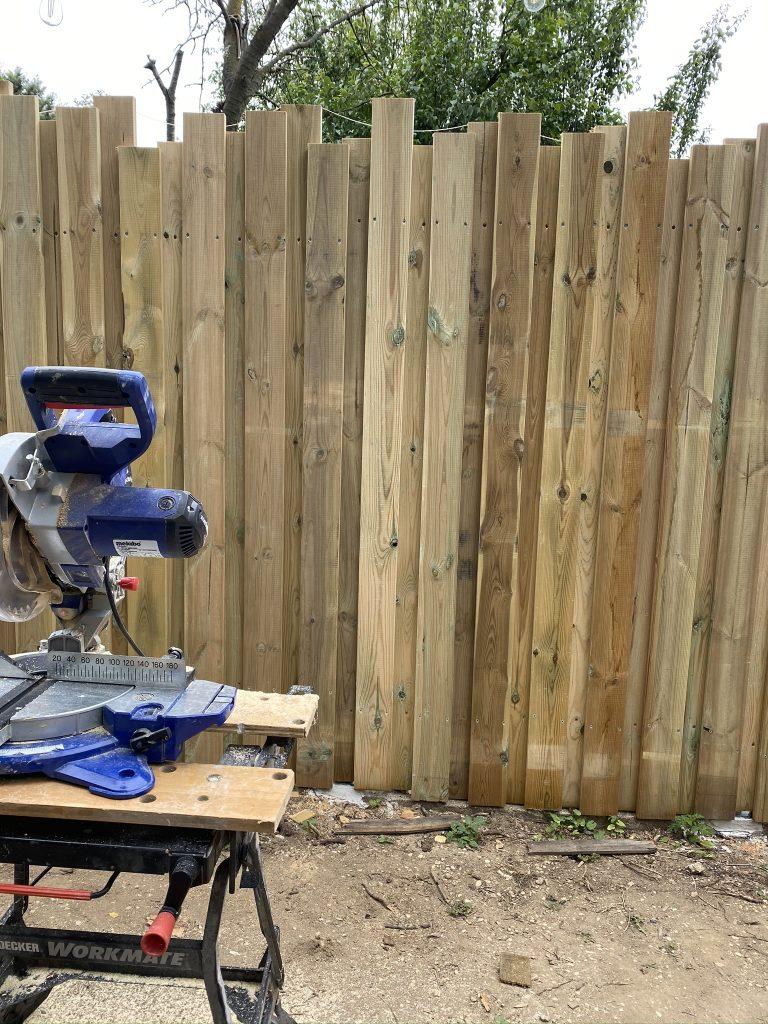 palissade en bois de jardin
