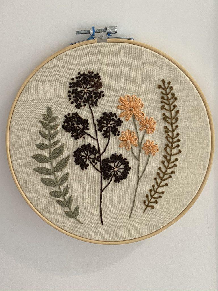 cercle broderie fleur