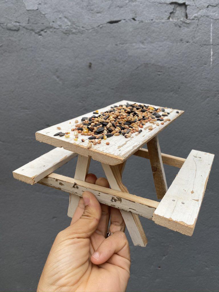 Table pique-nique mangeoire à oiseaux