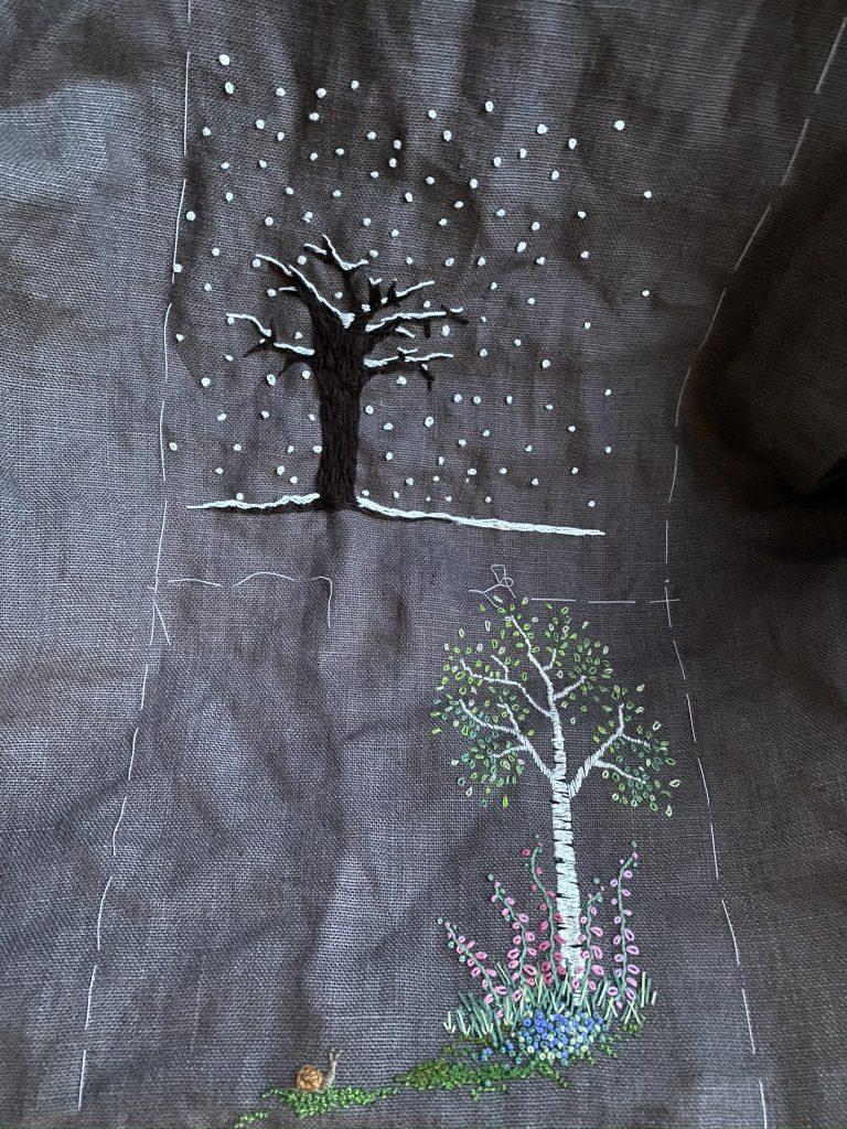 arbres brodés saison