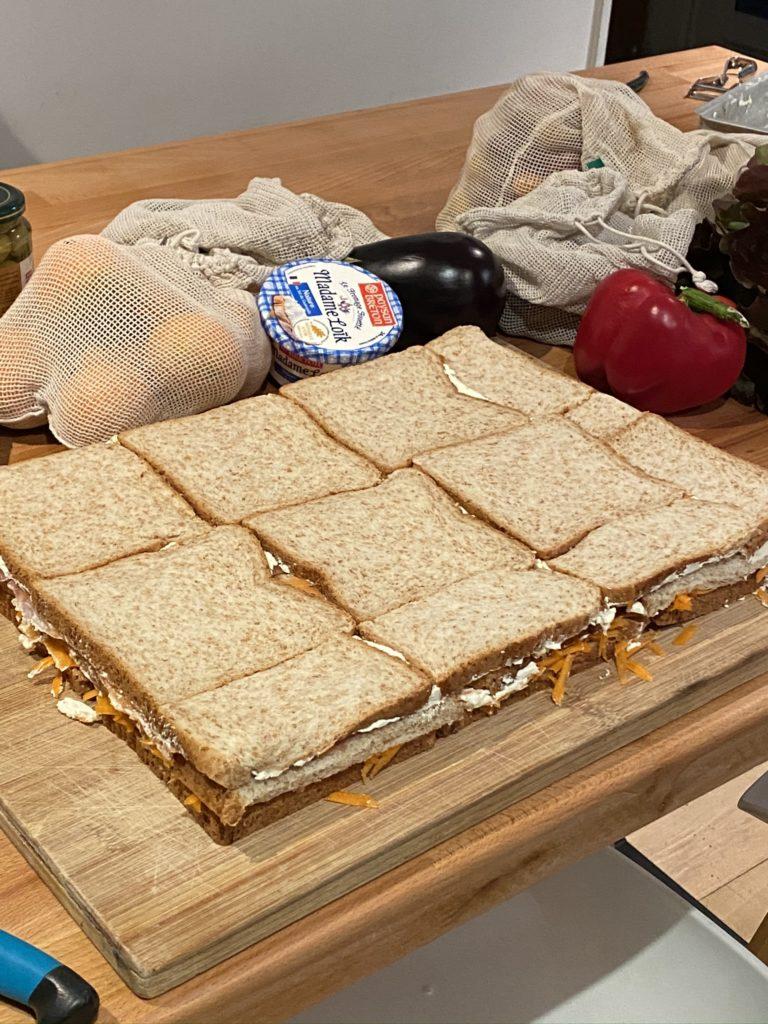 sandwich triangle géant