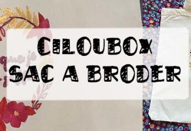 ciloubox kit sac brodé
