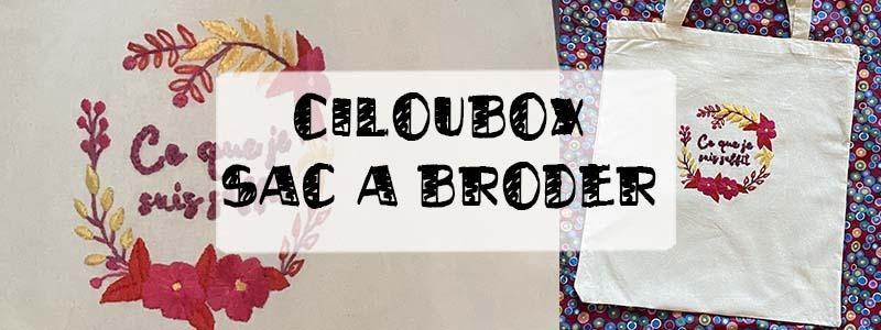 ciloubox kit sac brodé