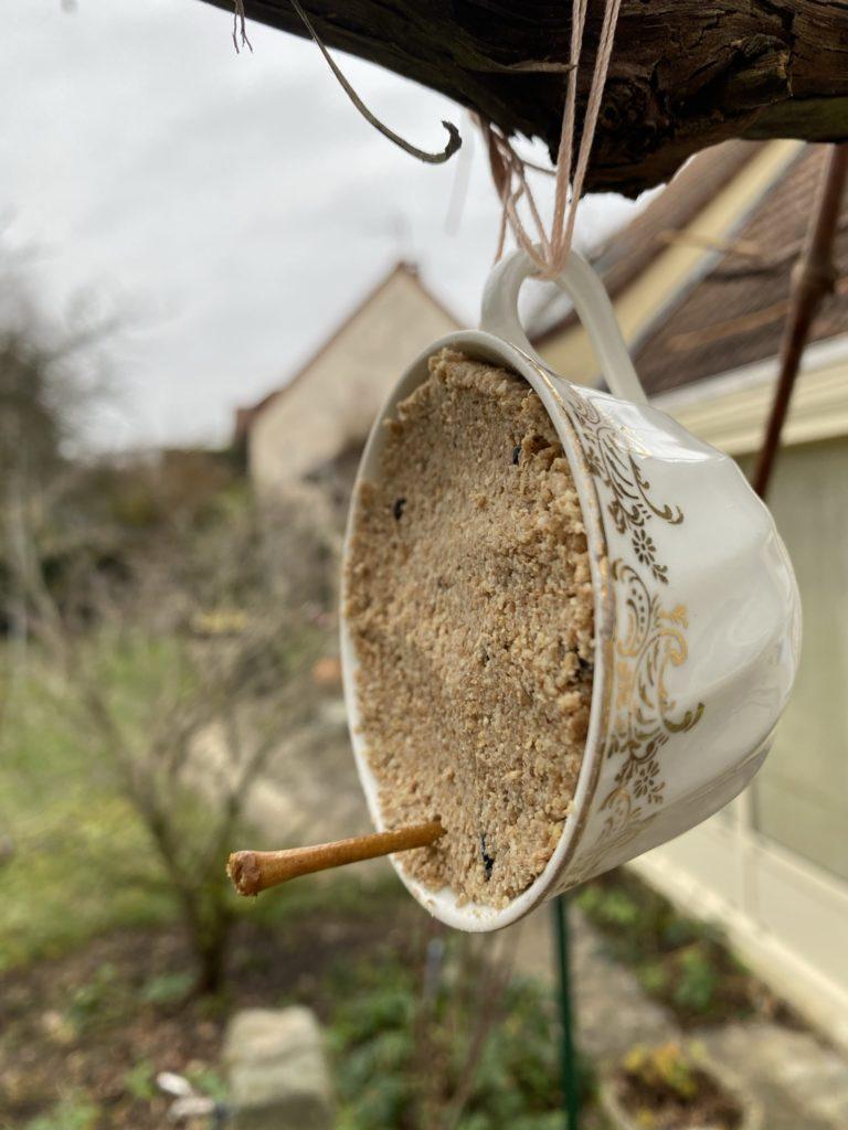 tasse mangeoire oiseau