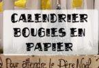 calendrier bougies en papier