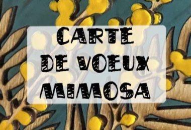 carte de voeux mimosa
