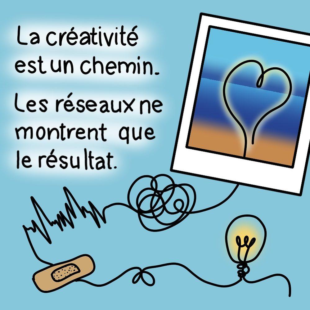 La créativité est un chemin. les réseaux ne montrent que le résultat