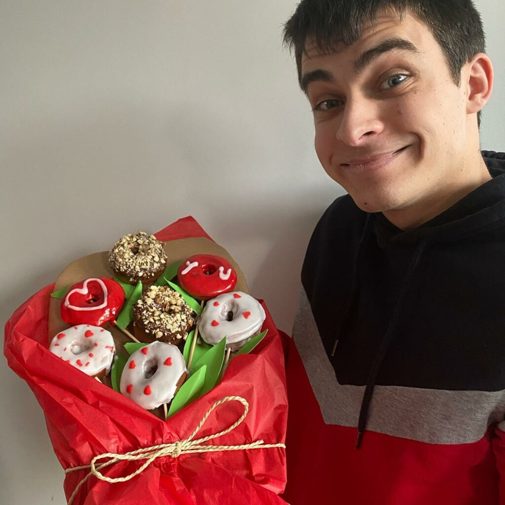 bouquet de donuts pour la saint valentin
