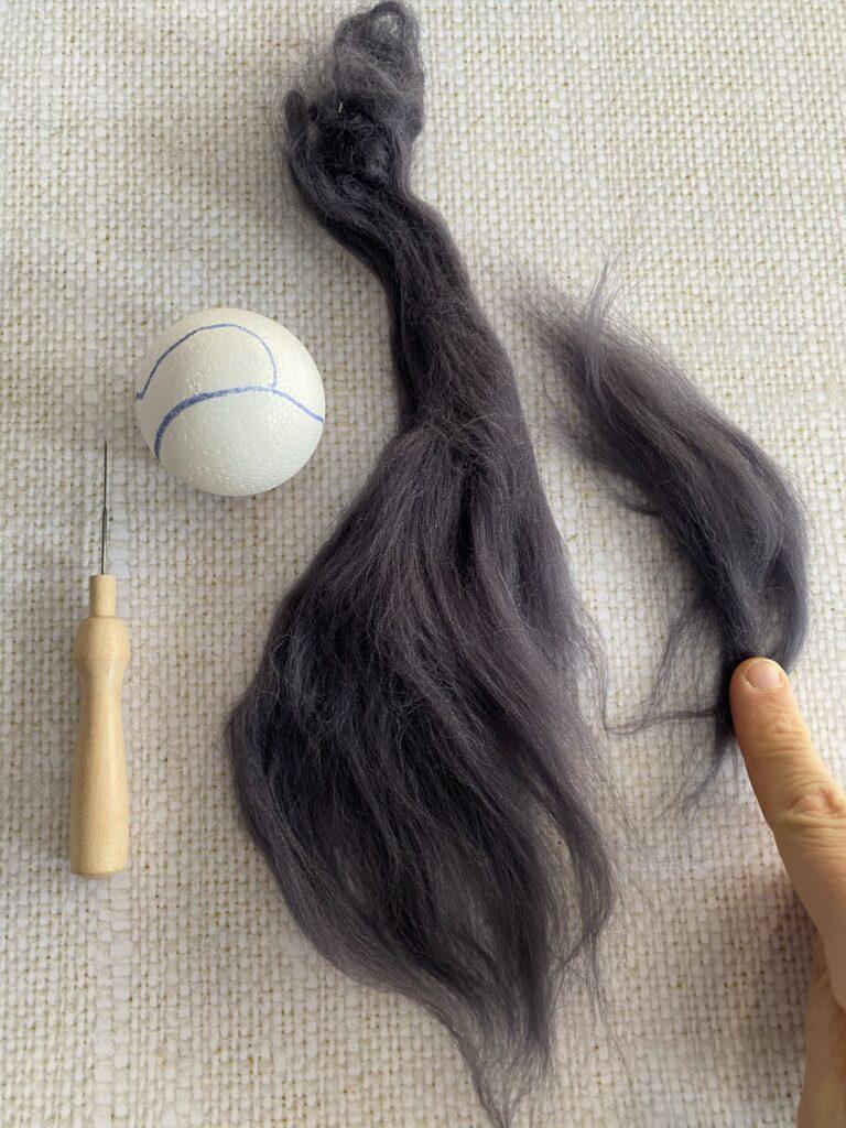 laine cardée pour débutant