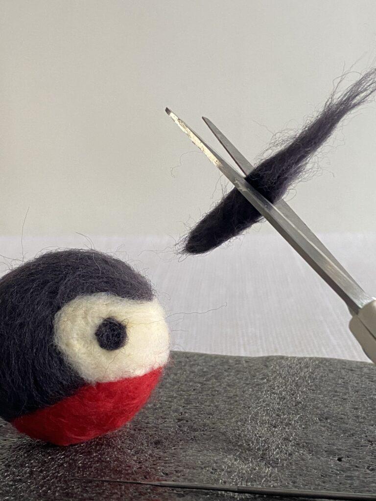 kit oiseau laine cardée