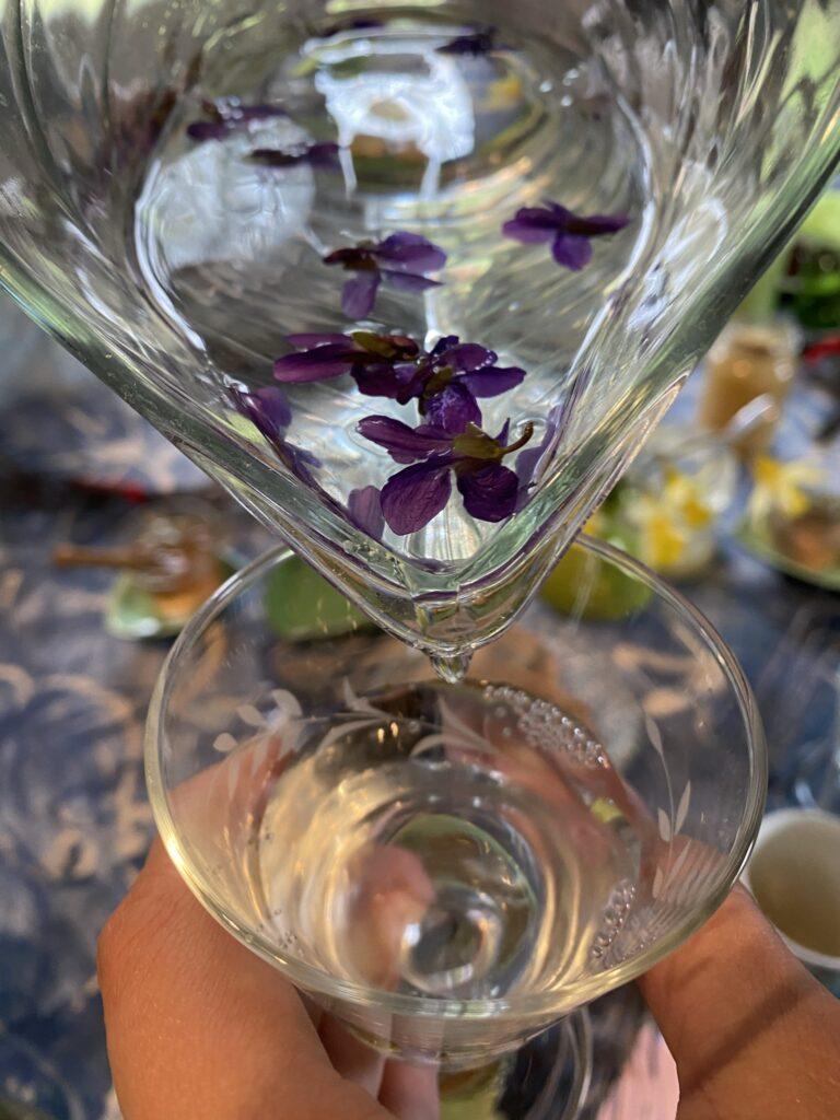 eau à la violette