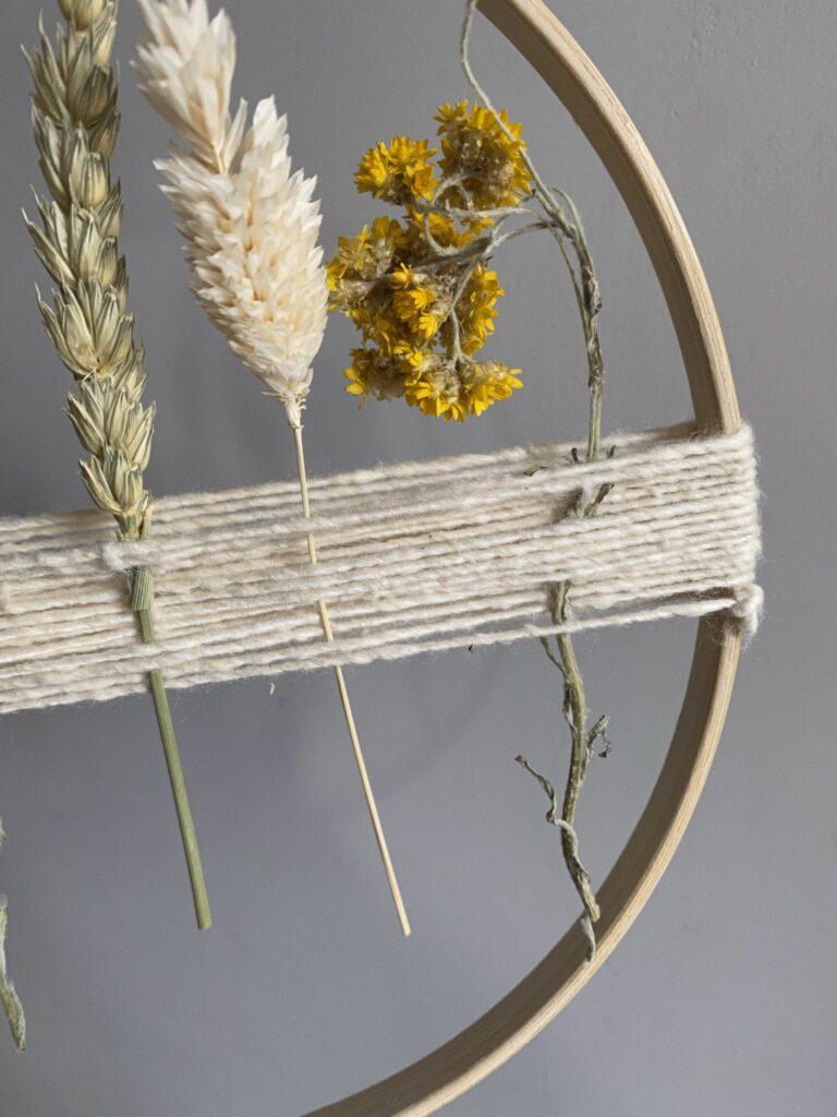 tuto facile cercle fleurs séchées