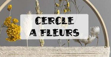 cercle fleur séchée