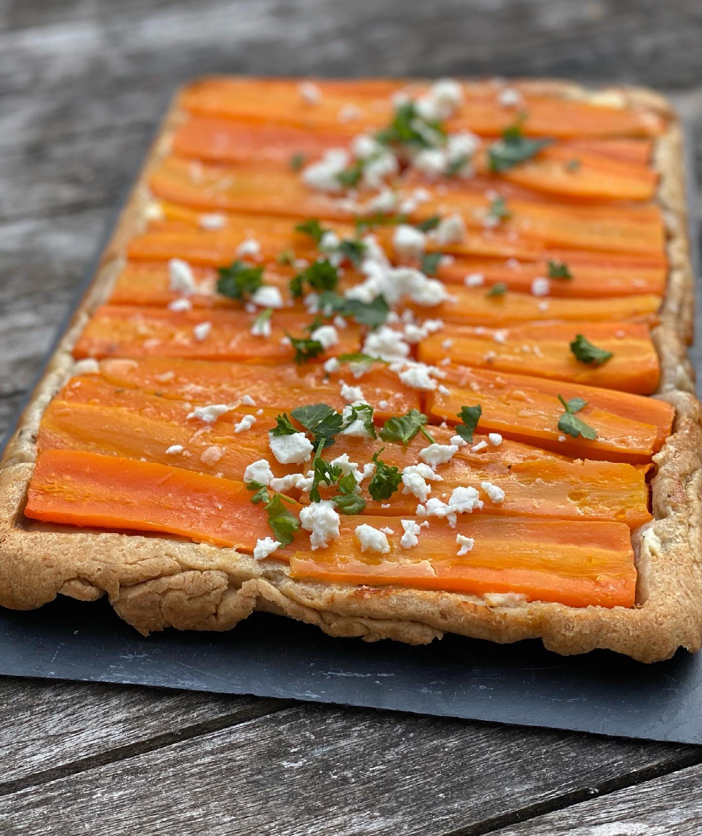 Tarte tatin à la carotte