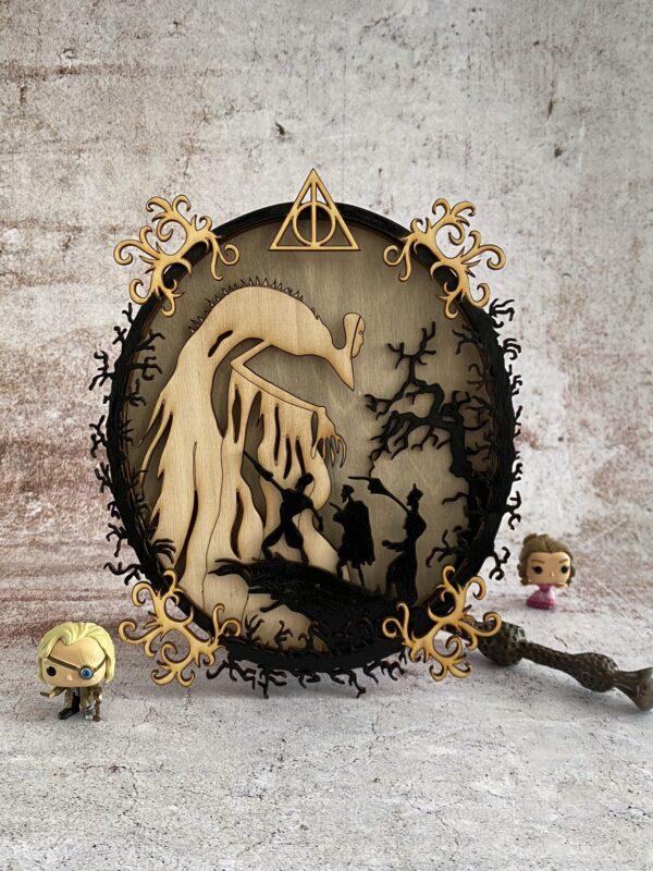 reliques de la mort en bois