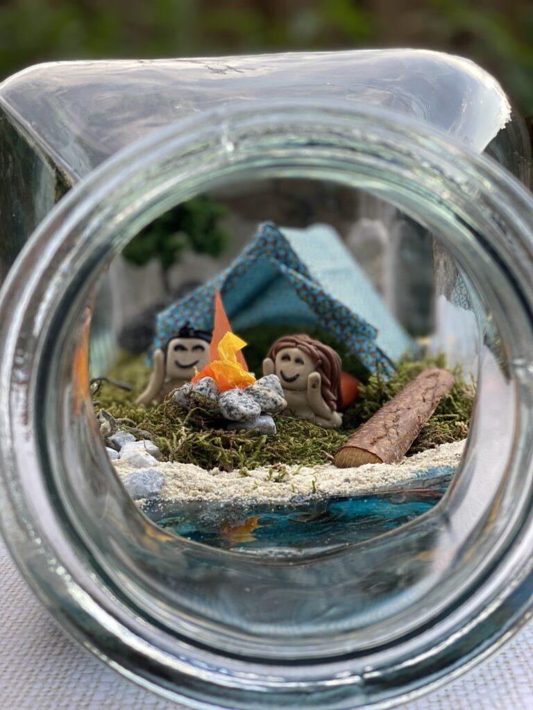 diorama en bouteille