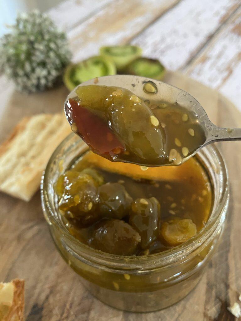 confiture de tomates vertes, la recette anti gaspi