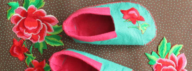 Fabriquer des chaussons en feutrine