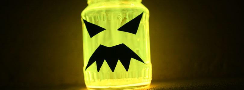 Pots lumineux pour Halloween