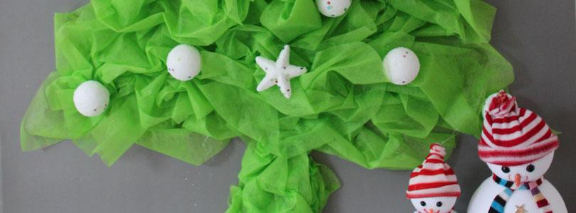 Fabriquer un sapin en papier froissé