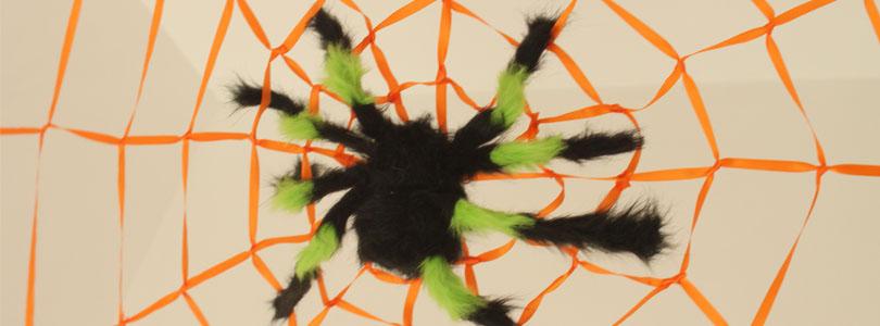 Fabriquer une toile d 39 araign e g ante ciloubidouille - Fabriquer une toile lumineuse ...