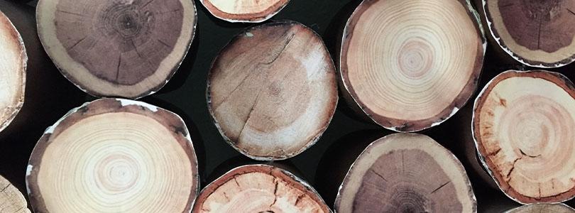 Calendrier de l'avent bûche en bois