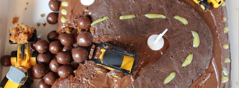 Gâteau chantier pour petit garçon